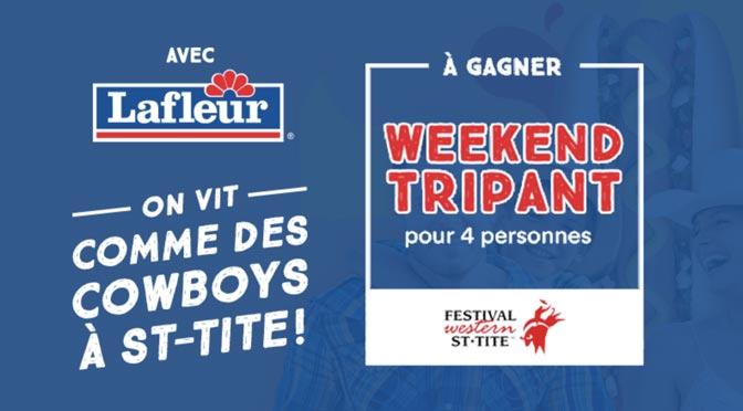 Concours Lafleur : Gagnez un forfait week-end VIP pour 4 personnes au Festival Western de St-Tite