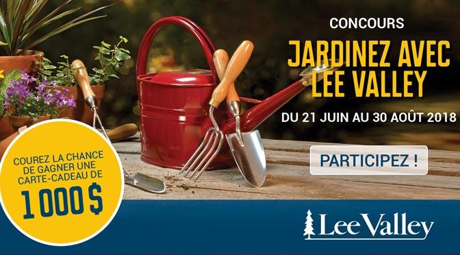 Gagner une carte-cadeau de 1 000 $ au Concours «Jardinez avec Lee Valley»
