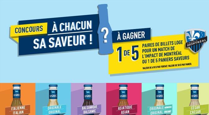 Gagnez billets pour le Match de l'Impact de Montréal au auconcours « À chacun sa saveur ! »