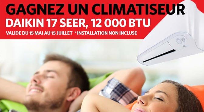 Concours Air Péloquin : Gagner un climatiseur Daikin 17 SEER d'une valeur de 2 158 $