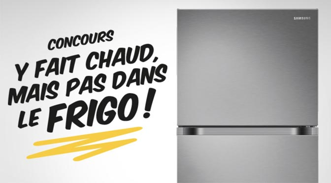 Un Réfrigérateur Samsung d'une Valeur de 1149$ à Gagner au concours EconoMax