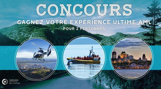 Concours AML: gagnez une Croisières à Tadoussac d'une valeur de 2000 $
