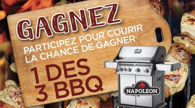 Gagnez l'un des 3 BBQ Napoléon à $1000 au Concours «un Peu de Piquant 2018»