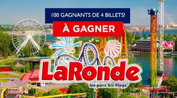 Gagnez l'un des 100 lots de 4 billets Concours « Sortie en famille à La Ronde! »
