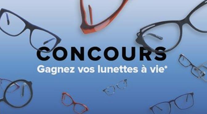 Gagnez une paire de lunettes à vie avec L'Entrepôt de la Lunette