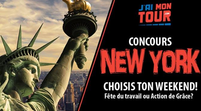 Concours «Fête du travail» : Gagnez un weekend au choix pour 2 personnes à NEW YORK!