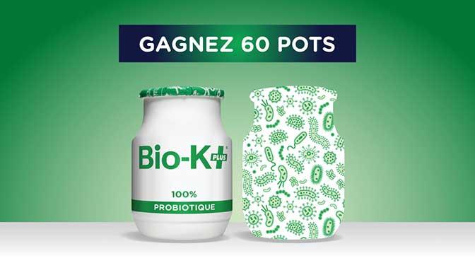 Concours Bio-K+ : Gagnez 60 pots de probiotiques Bio-K+ à 200$
