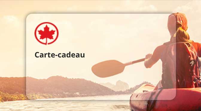 Gagner l'une des 3 Cartes-cadeaux Air Canada à hauteur de 500$