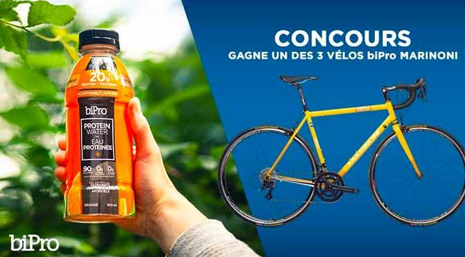 Gagnez l'un des 3 vélos MARINONI à 2500$ au concours «Gagne un Vélo avec Bipro»