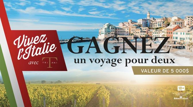 Gagnezun séjour durant 5 nuitées à Rome d'une valeur approximative de 5 000 $