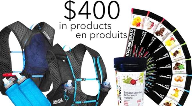 Gagnez une veste CAMELBAK et des produits KRONOBAR d'une valeur de 400$