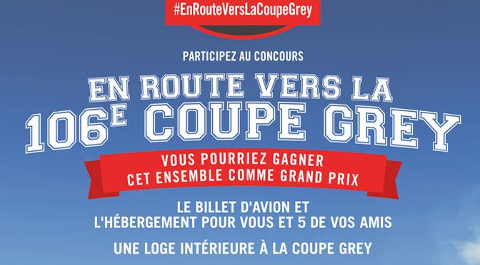 Gagnez un voyage pour 6 à Edmonton pour profiter de la Coupe Grey