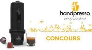 Concours Handpresso: Gagnez une machine Espresso pour voiture à 219$.