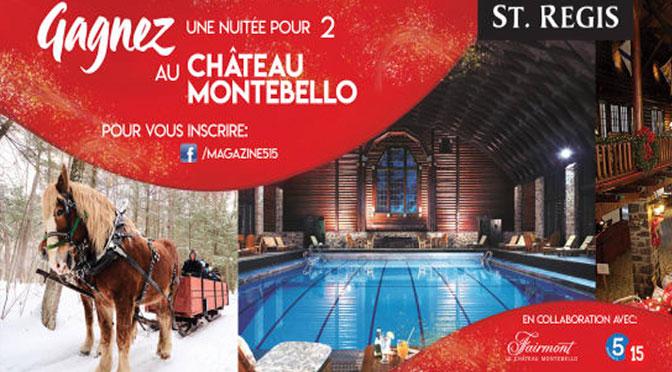 Gagnez une nuitée au Château Montebello pour deux personnes