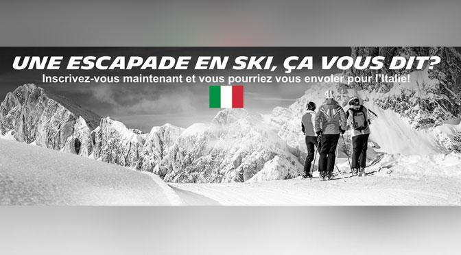 Gagner un voyage de ski en Italie pour 2 à d'une valeur de 8 000$