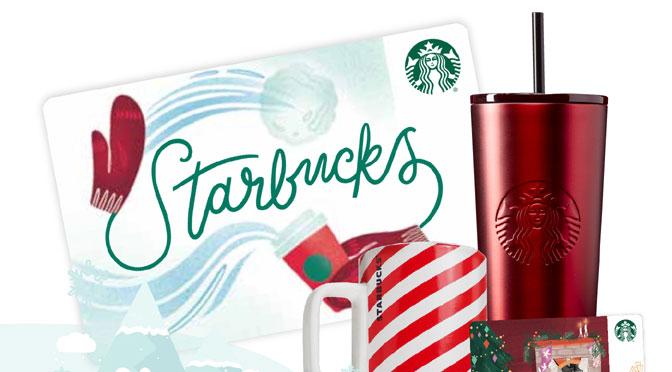 Gagnez une carte-cadeau et ensemble de tasses Starbucks à hauteur de 250 $