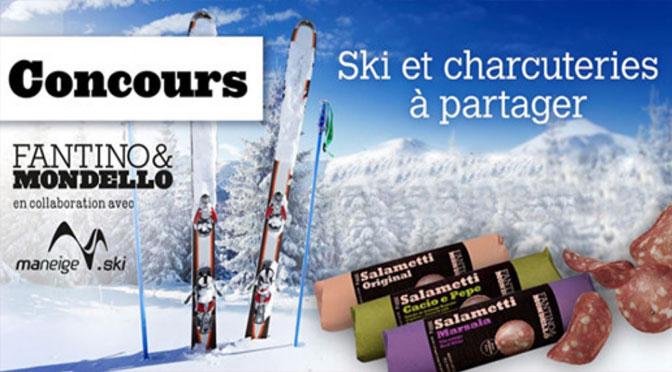 """Gagnez l'un des 10 prix offerts par le Concours """" Ski Et Charcuteries A Partager"""""""