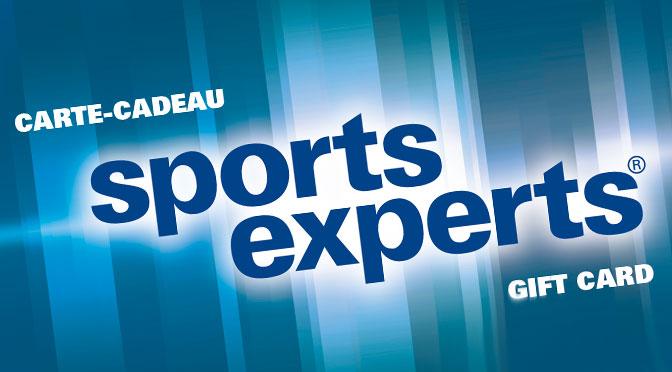 """Concours """" Sports Experts """" : Gagnez une carte-cadeau d'une valeur de 50 $"""