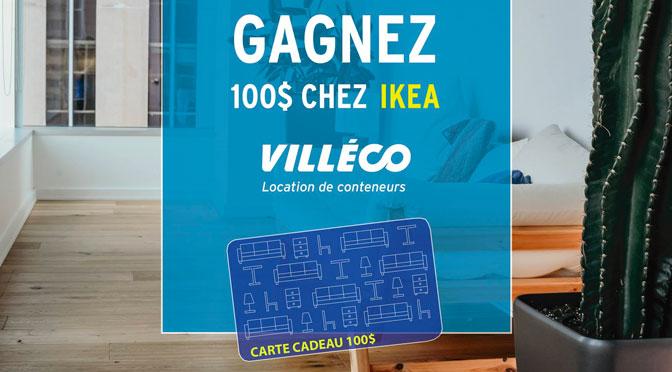 Gagnez une carte-cadeau d'une valeur de 100 $ valable chez IKEA