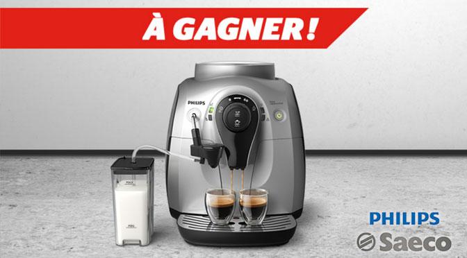 """Une machine à café Philips à hauteur de 579 $ à gagner au Concours """" Ça réveille !"""""""