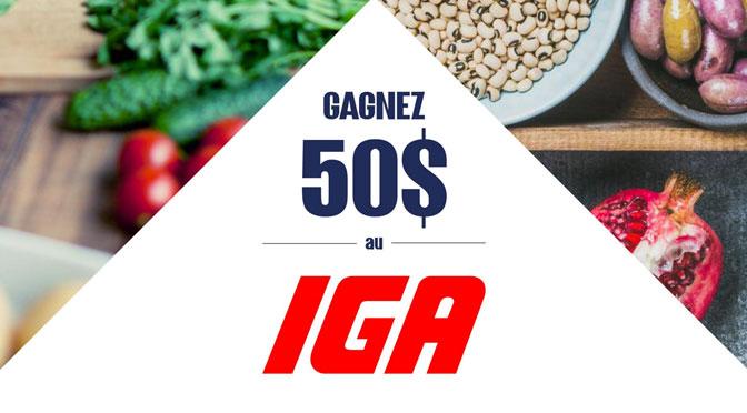 Gagnez 50 $ IGA au Concours la Relâche / IGA avec ProPeinture