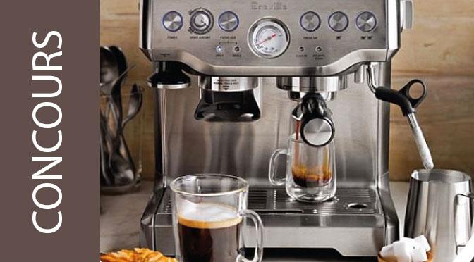 Gagnez une superbe machine Espresso Breville d'une valeur de 600 $