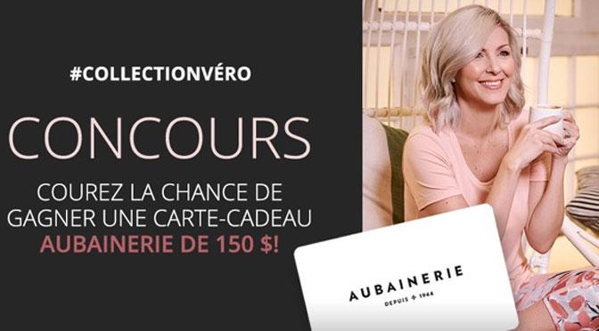 Concours Véronique Cloutier : Gagnez une Carte-Cadeau d'une valeur de 150 $