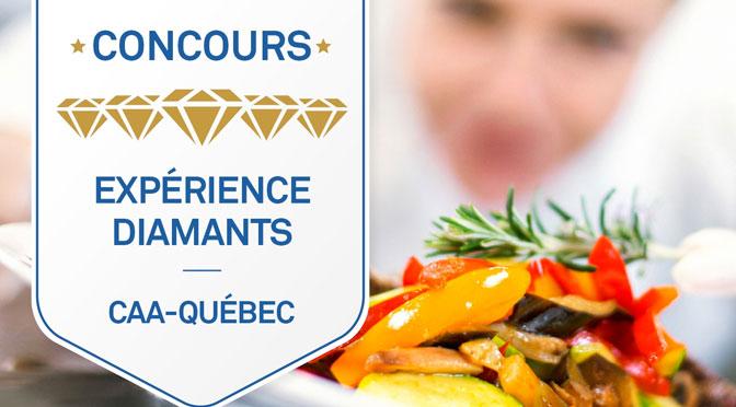 Concours Expérience Diamants : Gagnez 500$ au Quatre et Cinq Diamants du Québec