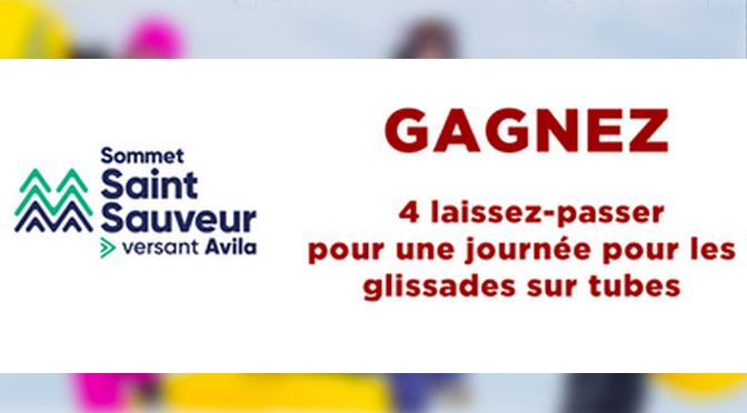 Gagner 4 laissez-passer pour les glissades sur tubes au Sommet Saint-Sauveur