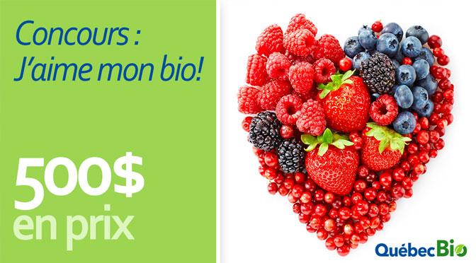 Gagnez l'une des 2 cartes-cadeaux de 250 $ pour acheter des aliments biologiques