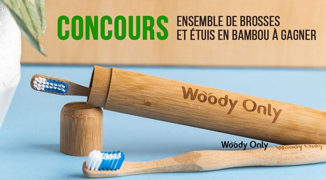 Gagnez 4 brosses à dents en plus de 2 étuis de voyage en bambou