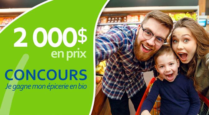 Gagnez une carte-cadeau à hauteur de 1 000 $ avec La Filière biologique du Québec