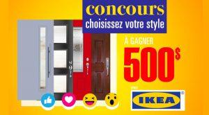 """Gagnez une carte-cadeau IKEA de 500 $ au concours """"Choisissez Votre Style !"""""""