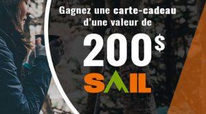 Concours Carte-cadeau Sail de 200$