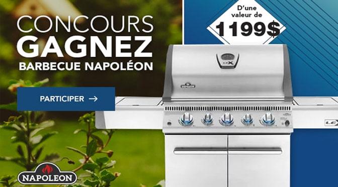 Gagnez un Barbecue Napoléon à 1 199 $ au concours Germain Larivière