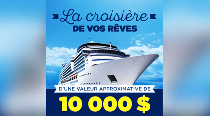Gagnez la croisière de vos rêves d'une valeur de 10 000 $ avec Jean Coutu